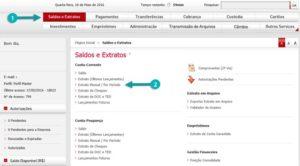 tela inicial internet banking Bradesco