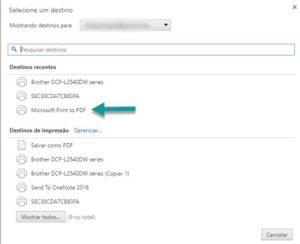 imprimindo o extrato bancário CEF em pdf no google chrome